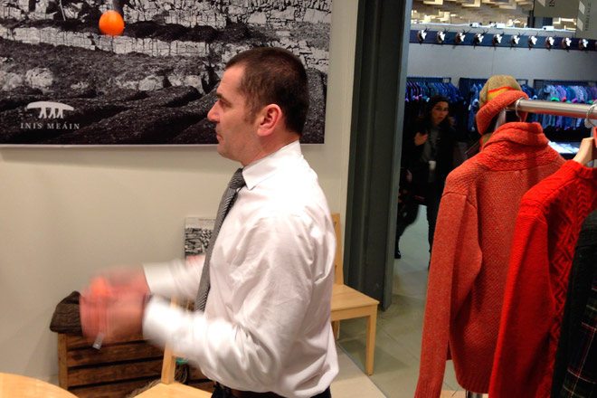 Juggling at Pitti