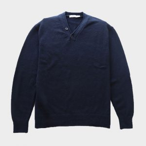 Merino Wool pullover 2 button neck