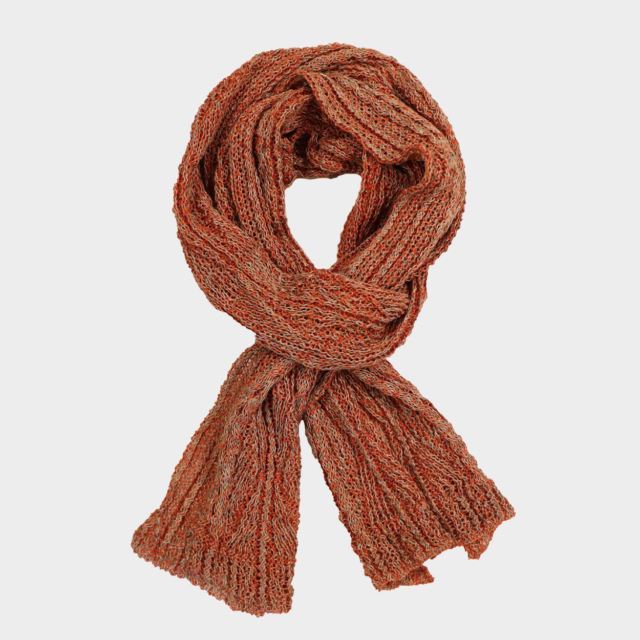 Patented linen aran scarf