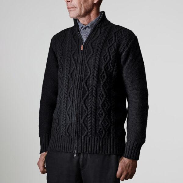 Inis Meáin Classic Aran Zipper Sweater