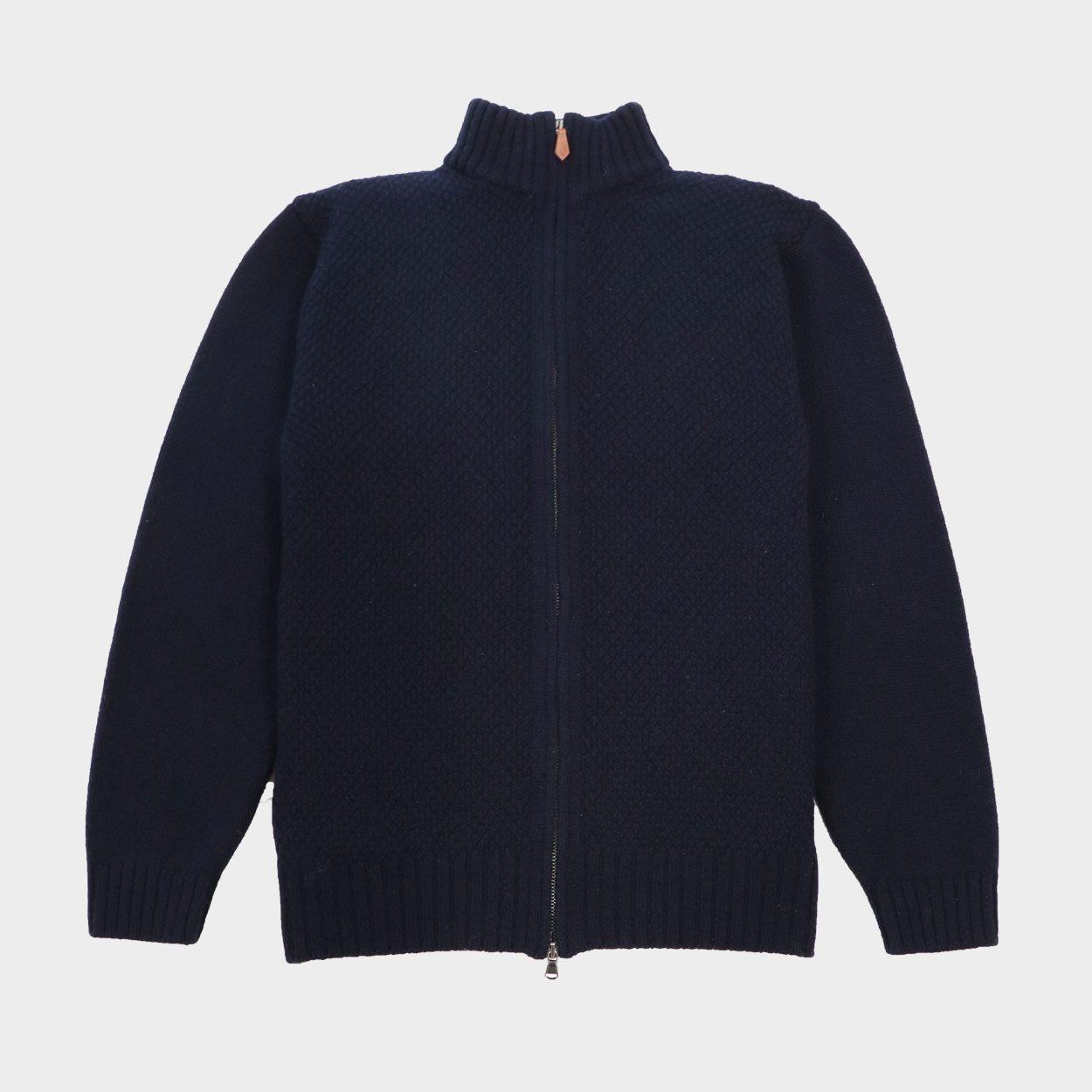 Moss stitch Zipper