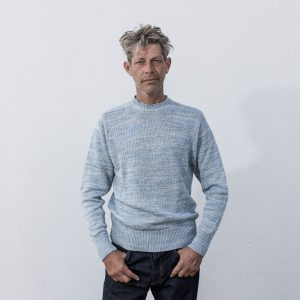 Linen Crew Neck in Blue