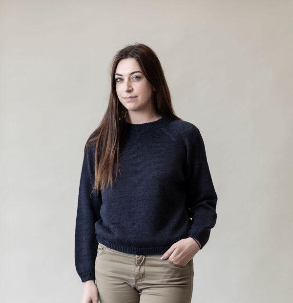 Linen Raglan Sweatshirt