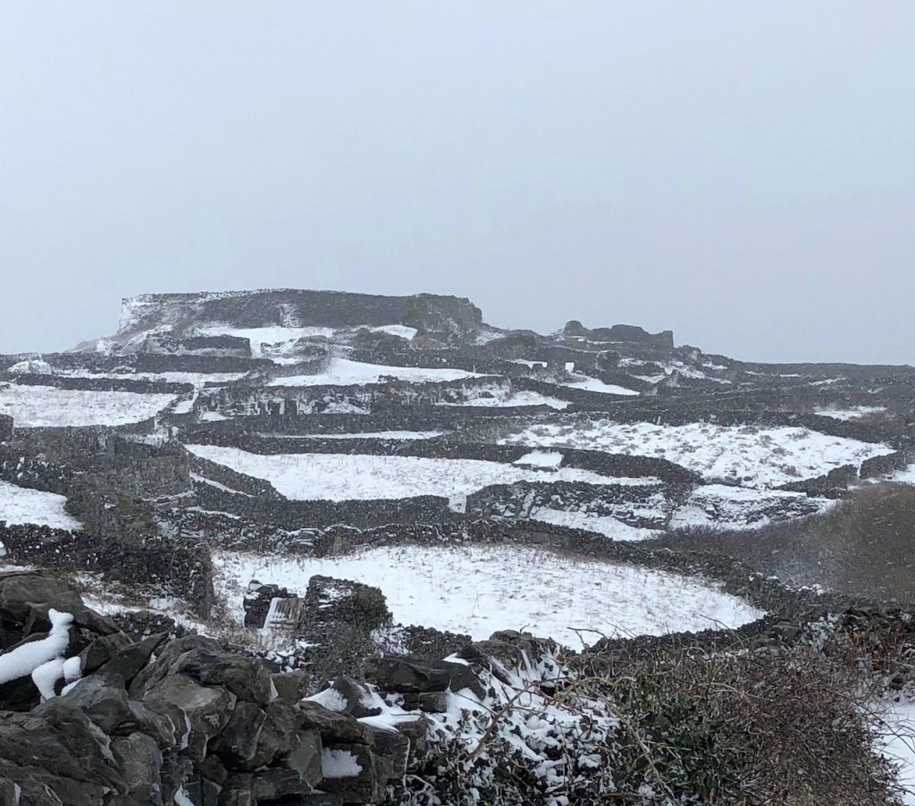 Snow covered Inis Meáin