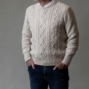 Cashmere Aran Sweater