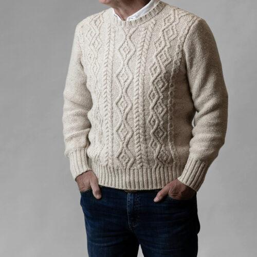 Inis Meáin Aran Cashmere Sweater Leitrim