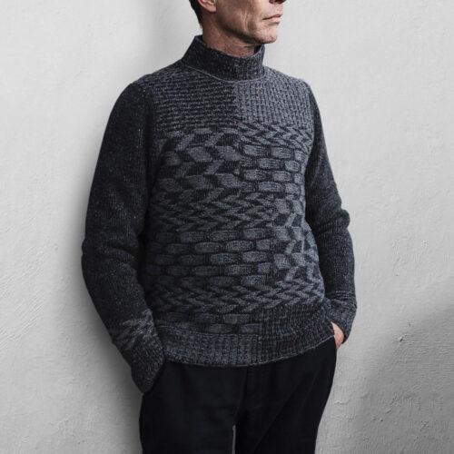 Inis Meáin Claíochaí Crew Neck Sweater Gray
