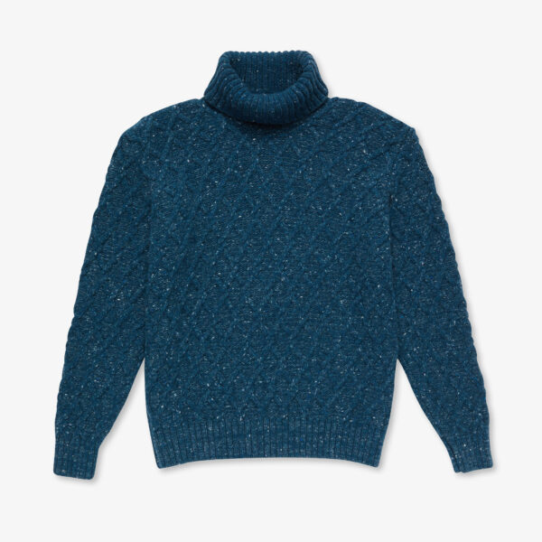 Inis Meáin Trellis Cable Turtleneck Offaly