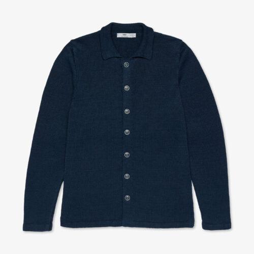 Inis Meáin Linen Shirt Jacket Blueberry
